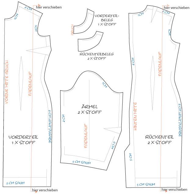 schnittmuster nach ma kleider tops hosen r cke und mehr. Black Bedroom Furniture Sets. Home Design Ideas